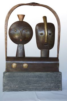 Horváth Pál László Together - iron and brass & copper sculpture - FREE SHIPPING