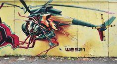 Remo Lienhard aka Wes21 - Street artist svizzero