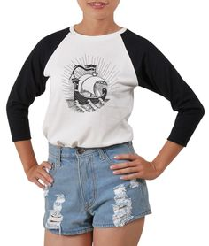 fea107f8f7319 Women Viking Ship Printed 100% Cotton Short Sleeves Raglan T-Shirt Wts 03 Panda  Shirt