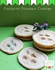 Frogs and Snails and Puppy Dog Tail (FSPDT): Footprint Dinosaur Cookies