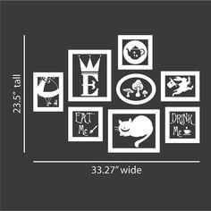 Alice in Wonderland Vinyl Wall Decal Frames Kit with by vinylfruit