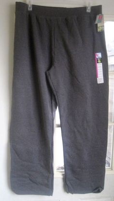 Hanes Premium Ladies Jogging Pants EcoSmart Size XXL 20-22 Gray New #Hanes #Jogging