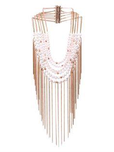 Raissa quatrz & gold-plated necklace | Rosantica by Michela Pa...