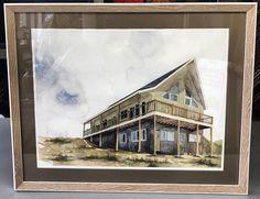House watercolor custom framed with acid-free matting, UV glass and frame by @larsonjuhl!  #art #pictureframing #customframing #denver #colorado #watercolor