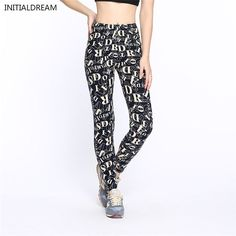 Item Type: Leggings Gender: Women Brand Name: INITIALDREAM Model Number: HDDK0072 Thickness: Standard Waist Type: Mid Material: Spandex,Cotton Pattern Type: Floral Length: Ankle-Length Fabric Type: Kn