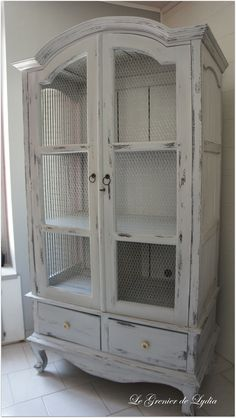 for the bathroom! Armoire Makeover, Chalk Paint Furniture, Furniture Redo, French Country Decorating, Shabby Chic Furniture, Decoration, Credenza, China Cabinet, Locker Storage