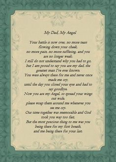 Miss my Dad. I didn't get to the hospital fast enough. Wish I could've been there like he was for my first breath. Miss My Daddy, Miss You Dad, Love You Dad, Dad Poems, Daddy Quotes, Funeral Poems For Dad, Funeral Quotes, Grief Poems, Tatoo