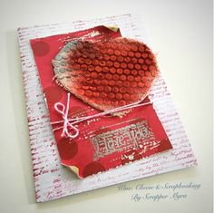 Wine, Cheese and Scrapbooking: My canvas heart card...