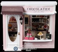 Chocolate shop in 1/12 scale. Yum!