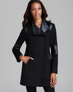 Calvin Klein Coat - Asymmetric Mixed Media