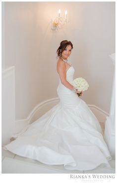 Beautiful #EnzoaniRealBride Haley in Blue by Enzoani Formosa gown | Rianka's Wedding Photography