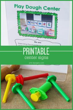 Printable Center Signs for Preschool and Kindergarten