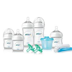 """I think the bottle gift sets are a brilliant idea to get a little of everything, all at once! (Philips AVENT Natural Infant Starter Set Exclusive - Avent - Babies """"R"""" Us, Amazon.com)"""