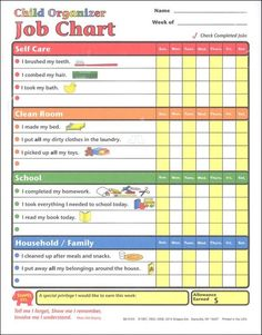 Rainbow Resource Center - Chores Chart: