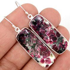 Eudialyte 925 Sterling Silver Earrings Jewelry EDLE52