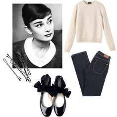 Audrey Hepburn inspired outfit.