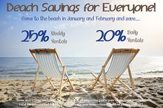 Save on weekly or daily rentals in January or February! Call now to book 800-525-0225 and mention JFS #weekend #getaway #save