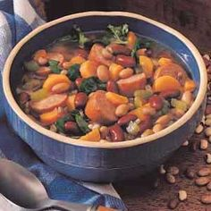 Sausage Bean Stew Easy weeknight dinner; we usually don't have leftovers of this one.