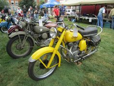 1949 Indian Super Scout (front); 1943 Indian 741 (back) – Indian Motocycle Day: July 21, 2013
