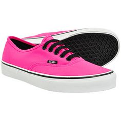 Vans neon authentic shoes - lace up pumps - pink vans shoes 33502 UK 365f98e3fa4b