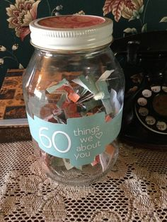 60 Things we love about you,60th Birthday Gift Ideas for Mom