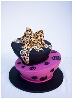 - Leopard Madhatter A Birthday Cake. I'd do zebra in place of lep and tiffany blue instead of blacj 21st Birthday Wishes, 21st Birthday Cakes, Happy Birthday, Fancy Cakes, Cute Cakes, Suitcase Cake, 21st Cake, Edible Creations, Love Cake