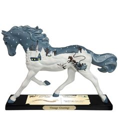 Enesco Trail of Painted Ponies Vintage Greetings Figurine, => Quickly view this special deal, click the image : Collectible Figurines for Christmas Old Time Christmas, Cowboy Christmas, Christmas Cards, Christmas Eve, Vintage Christmas, Holiday, Horse Artwork, Horse Paintings, Pony Horse