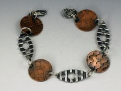 Sterling Silver and Copper Mixed Metal by MicheleGradyDesigns, $88.00