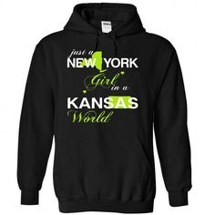 Just A New York Girl In A Kansas World T-Shirts, Hoodies, Sweatshirts, Tee Shirts (39$ ==► Shopping Now!)