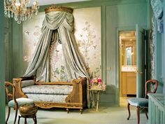 Traditional Green Bedroom