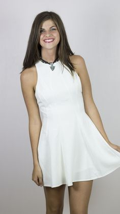 Racer Front Fit and Flare Dress
