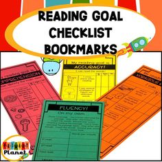 Reading Goal Bookmarks by Primary Planet by Hilary Gard Ar Reading, Reading Goals, Student Reading, Close Reading, Guided Reading Questions, Reading Strategies, Reading Comprehension, Building Reading Stamina, Good Fit Books