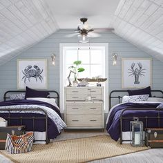 Breezy Beach House Guest – Bedroom – The Home Depot Beach House Bedroom, Beach House Decor, Home Bedroom, Bedroom Furniture, Bedroom Decor, Beach House Designs, 50s Bedroom, Coastal Master Bedroom, Beach House Furniture