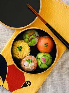 Japanese Boxed Lunch, Temari-zushi Bento, てまり寿司弁当