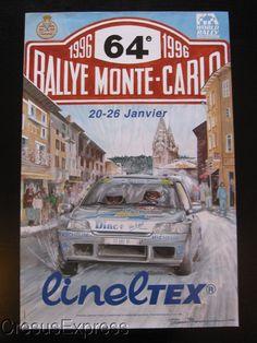 AFFICHE ORIGINALE ACM 64° RALLYE MONTE CARLO 1996 WRC fr.picclick.com