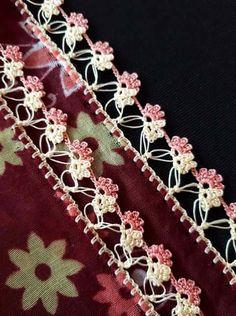 Alıntı Needle Tatting, Embroidery Jewelry, Crochet Flowers, Diy And Crafts, Knit Crochet, Knitting, Lace, Model, Pattern