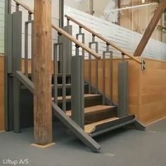 This staircase can transform into a wheelchair lift in seconds.You can find Homemade crafts and more on our website.This staircase can t. Architecture Today, Stairs Architecture, Green Architecture, Architecture Design, Stair Walls, Stair Makeover, Modern Architects, House Design, Staircase Design Modern