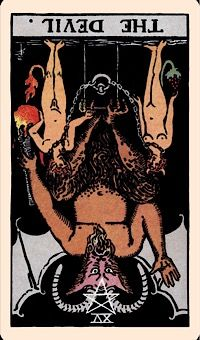 The Card of the Day: The Devil (Reversed) — Elliot Oracle - Tarot Card Readings Tarot Tattoo, Devil Tattoo, Oracle Reading, Oracle Tarot, Tarot Card Meanings, Major Arcana, Psychic Readings, Card Reading, Tarot Cards