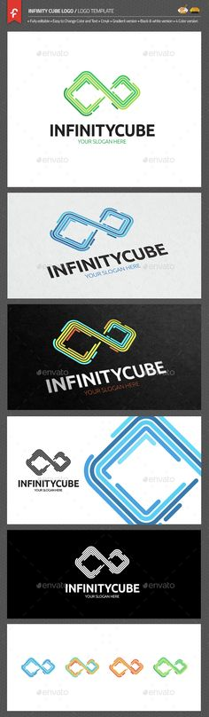Infinity Cube Logo — AI Illustrator #tech #infinite • Available here → https://graphicriver.net/item/infinity-cube-logo/15082684?ref=pxcr
