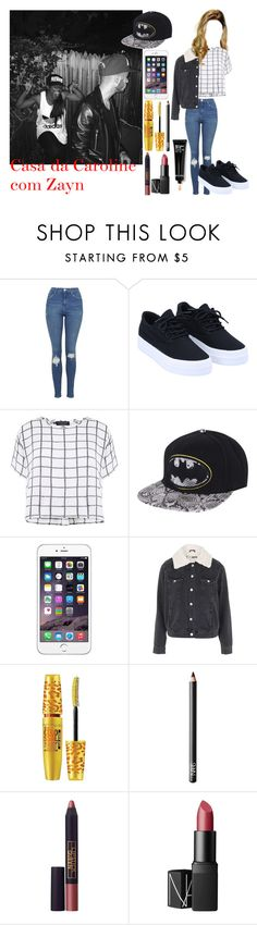 """""""Sem título #80"""" by wifeofniall17 ❤ liked on Polyvore featuring Topshop, Myne, Maybelline, NARS Cosmetics, Lipstick Queen and Bobbi Brown Cosmetics"""