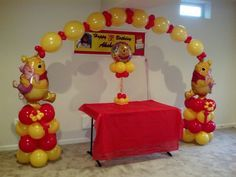 winnie the pooh balloon decorations - Google Search