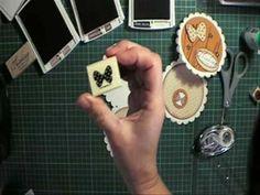 Scallop circle easel card