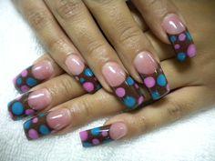 Polka Dot French Nails - NAILS Magazine