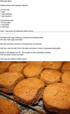 Molasses Buns .... Newfoundland recipe