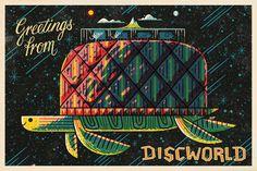 Discworld by Andrew Kolb (postcard)