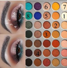 night mit den Morphe Brushes x Jackie Hill-Palette Voller Make-up-Look . - Makeup Looks Full Face Makeup Eye Looks, Full Makeup, Eye Makeup Steps, Makeup 101, Beautiful Eye Makeup, Skin Makeup, Makeup Inspo, Eyeshadow Makeup, Makeup Inspiration