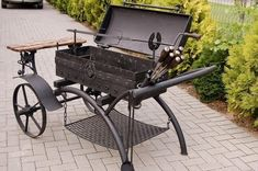 Bbq Pit Smoker, Fire Pit Grill, Barbecue Grill, Grilling, Bar B Que Grills, Bar B Que Pits, Barbecue Original, Parrilla Exterior, Bbq Wood