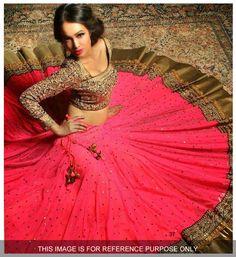 #Designer Lehenga Choli#Pink & beige #Indian Wear#Desi Fashion #Natasha Couture #Indian Ethnic Wear #Bridal Wear #Wedding Wear# Bollywood Dreams
