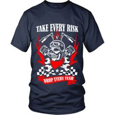 Motorcycle - 'Take Evey Risk' District Unisex Shirt Cave, Motorcycle, Unisex, Tees, Mens Tops, T Shirt, Collection, Fashion, Supreme T Shirt