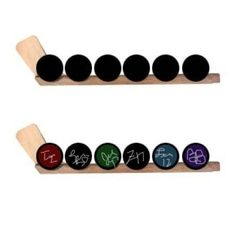 Hockey puck display that holds 6 hockey pucks. Puck display racks can be hung on the wall or sit on a shelf. Show off your hockey puck colle...